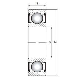 Rodamiento 16010 ZZ ISO