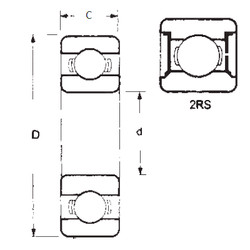 Rodamiento 1605-2RS FBJ