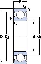 Rodamiento 6028-2Z SKF
