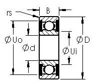 Rodamiento 6021-2RS AST