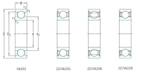 Rodamiento 6020-2Z/VA208 SKF