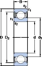 Rodamiento 6022-2Z/VA208 SKF