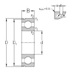 Rodamiento 6021-N NKE