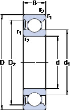 Rodamiento 6032-RS1 SKF