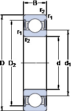 Rodamiento 6026-2RS1 SKF