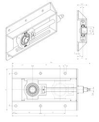 Rodamiento UST211+WB SNR