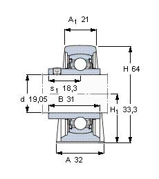 Rodamiento YAR 204-012-2FW/VA228 SKF